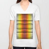 quilt V-neck T-shirts featuring Quilt Pattern  by Zenya Zenyaris