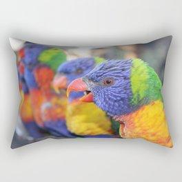 Australian Rainbow Lorikeets Rectangular Pillow
