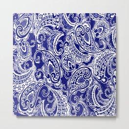 paisley batik Metal Print