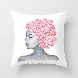 Flower Girl - Hydrangea Throw Pillow