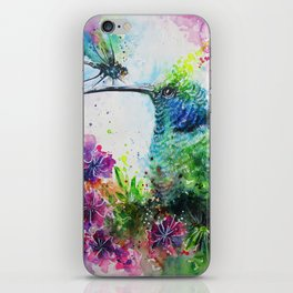 Hummingbird And Dragonfly iPhone Skin