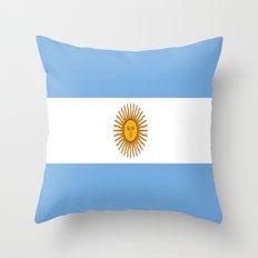 Flag Of Argentina Throw Pillow