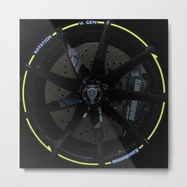 Koenigsegg Agera R wheel Metal Print