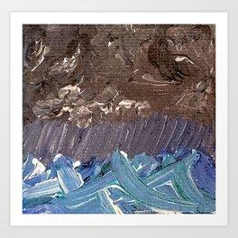Tiny Ocean Currents Art Print