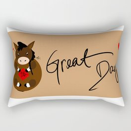 Adorable Horse Rectangular Pillow