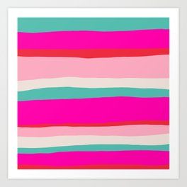 Candy Stripe Christmas Art Print