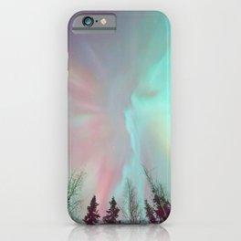 Deep Pastel Aurora Borealis iPhone Case