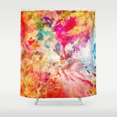 Modern Abstract Digital Painting Love Shower Curtain