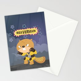The incredible Beaverman Stationery Cards