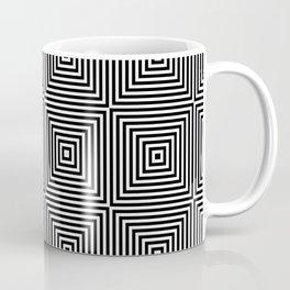 Square Optical Illusion Black And White Coffee Mug