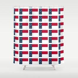 flag of  north carolina 2- south,america,usa,Old North State,Tar Heel,North Carolinian,Charlotte Shower Curtain