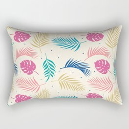 Tropical summer plants pattern Rectangular Pillow