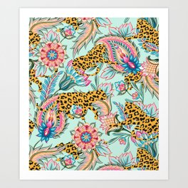 May The Jungle Be With You #pattern #illustration Art Print