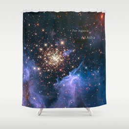 Per Aspera - ad Astra Shower Curtain