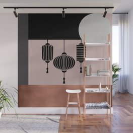 Mid-Century Minimalist Japan Lamps Graphic Wall Mural