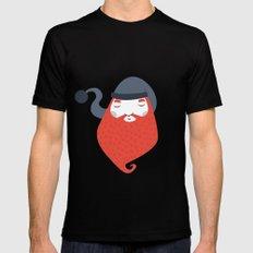 Beard Black MEDIUM Mens Fitted Tee