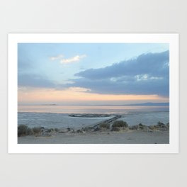 Sunset at Spiral Jetty Art Print