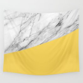 Marble and Primrose Yellow Color Wall Tapestry