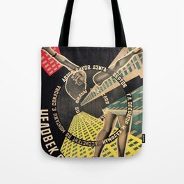 Man with a Movie Camera, vintage movie poster, 1929 Tote Bag