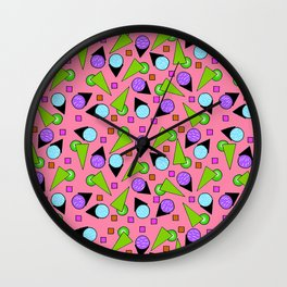 2D Geo Goodness Wall Clock