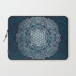 Flower Of Life (Silver Lining) Laptop Sleeve
