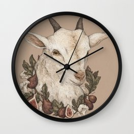 Goat and Figs Wall Clock