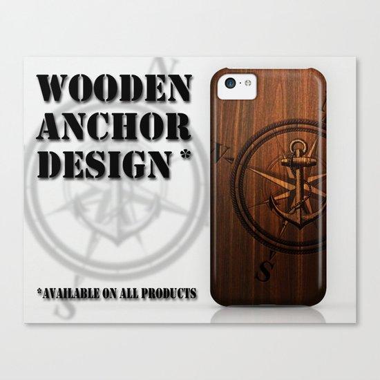Wooden Anchor Canvas Print