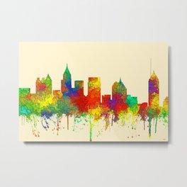 Atlanta, Georgia Skyline - SG Metal Print