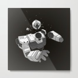 Death of a Mobile Suit Metal Print