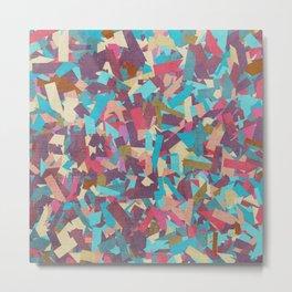 Seamless Colorful Geometric Pattern II Metal Print