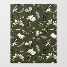 Spellbooks, green Canvas Print