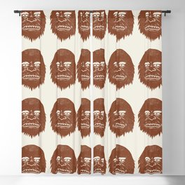 Big Foot Is Watching You Blackout Curtain