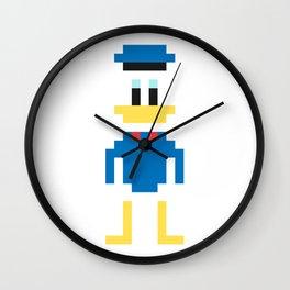 Donald Duck Pixel Character Wall Clock