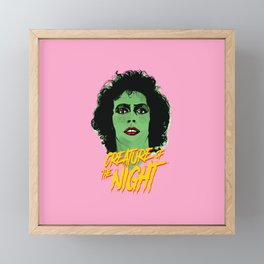 Creature of the night -The Rocky Horror Picture Show Framed Mini Art Print