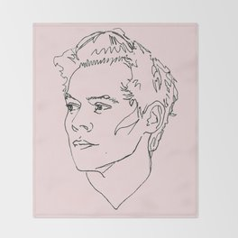 Harry Styles Drawing Throw Blanket