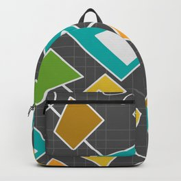 Geometric mid-century space Backpack