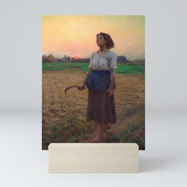 Jules Breton - Song of the Lark Mini Art Print