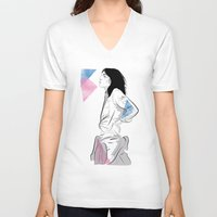 melissa smith V-neck T-shirts featuring Patti Smith by Nicky Phillips
