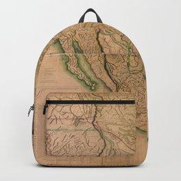 Map of North America Missouri Territory (1826) Backpack