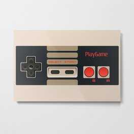 Retro Gamepad Metal Print