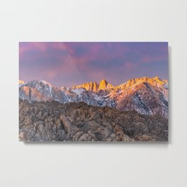First Light on Mount Whitney Metal Print