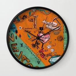 NEVADA map Wall Clock