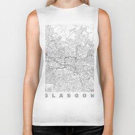 Glasgow Map Line Biker Tank