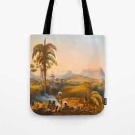 Roraima Mountain Illustrations Of Guyana South America Natural Scenes Hand Drawn Tote Bag