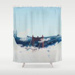 Whale Watching San Fran Shower Curtain