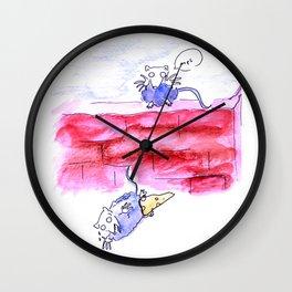 Naughty mice Wall Clock