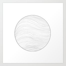 Frayed Edge Planet Art Print