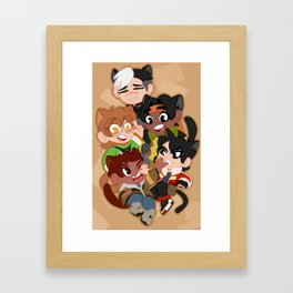 Meowtron Framed Art Print