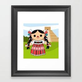 Maria 4 (Mexican Doll) Framed Art Print
