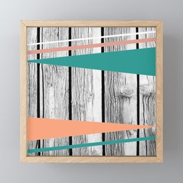 Colored arrows on wood Framed Mini Art Print